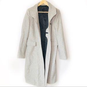 Zara Woman Wool Light Gray Trench Coat